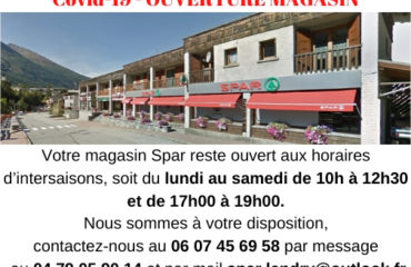Message ouverture magasin Covid 19